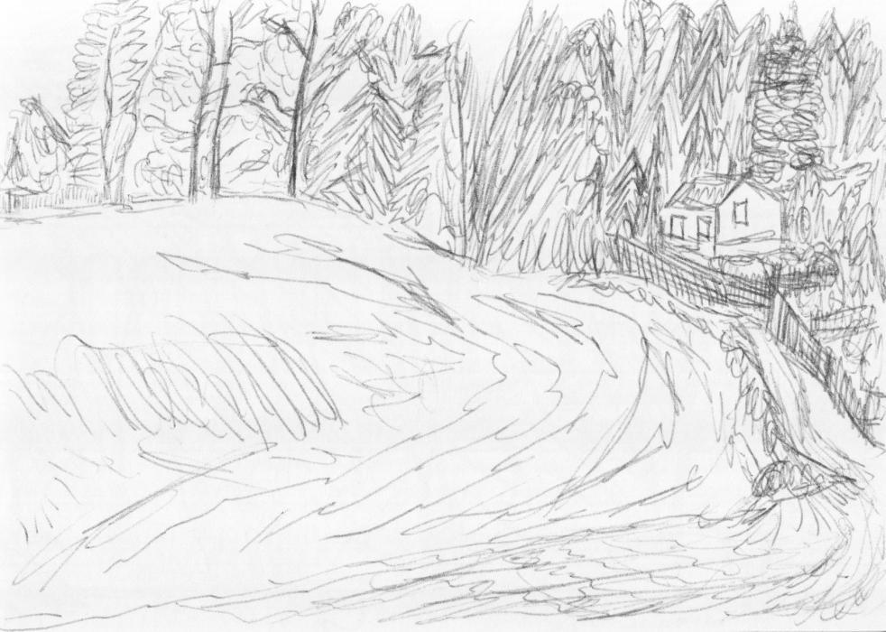 Skizze aus Skizzenheft (Nr. 6, 2012, Kugelschreiber, Format unbekannt)