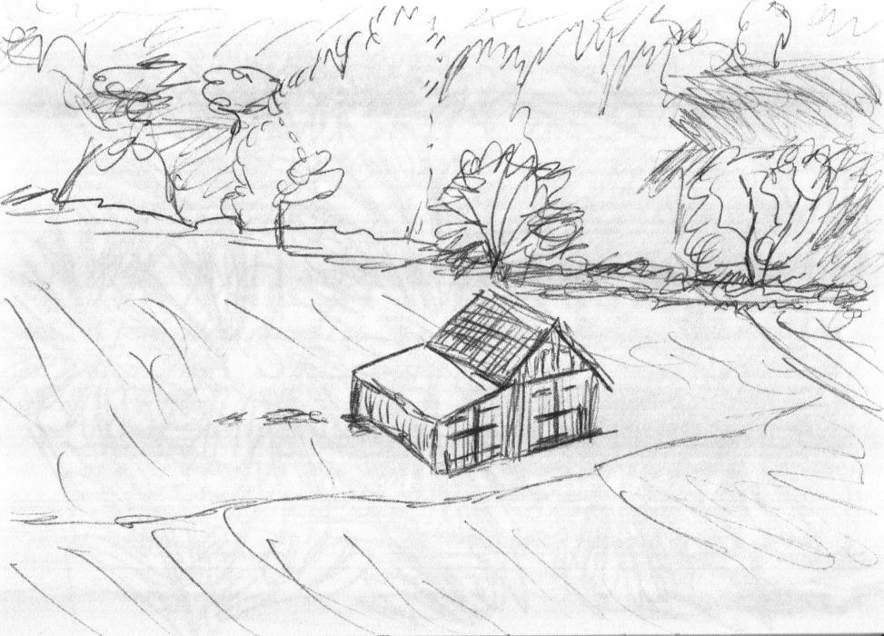 Skizze aus Skizzenheft (Nr. 16, 2012, Kugelschreiber, Format unbekannt)