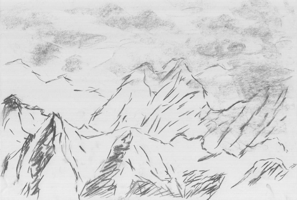 Zugspitze (1, 2012, 21 x 29,7 cm, A4)