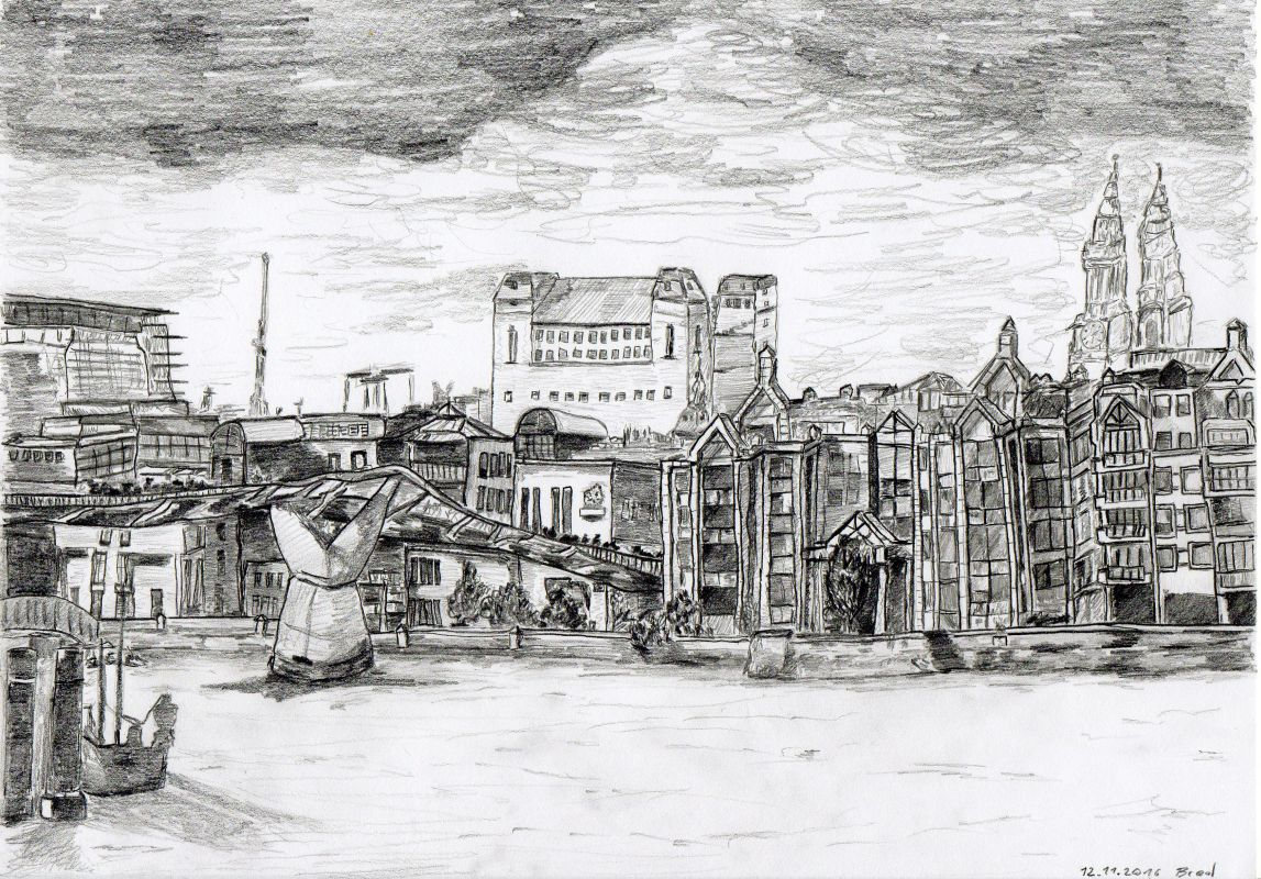 Bleistiftzeichnung (12.11.16, 21 x 29,7 cm, A4)