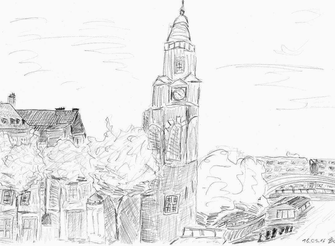 Bleistiftzeichnung (18.05.16, 21 x 29,7 cm, A4)