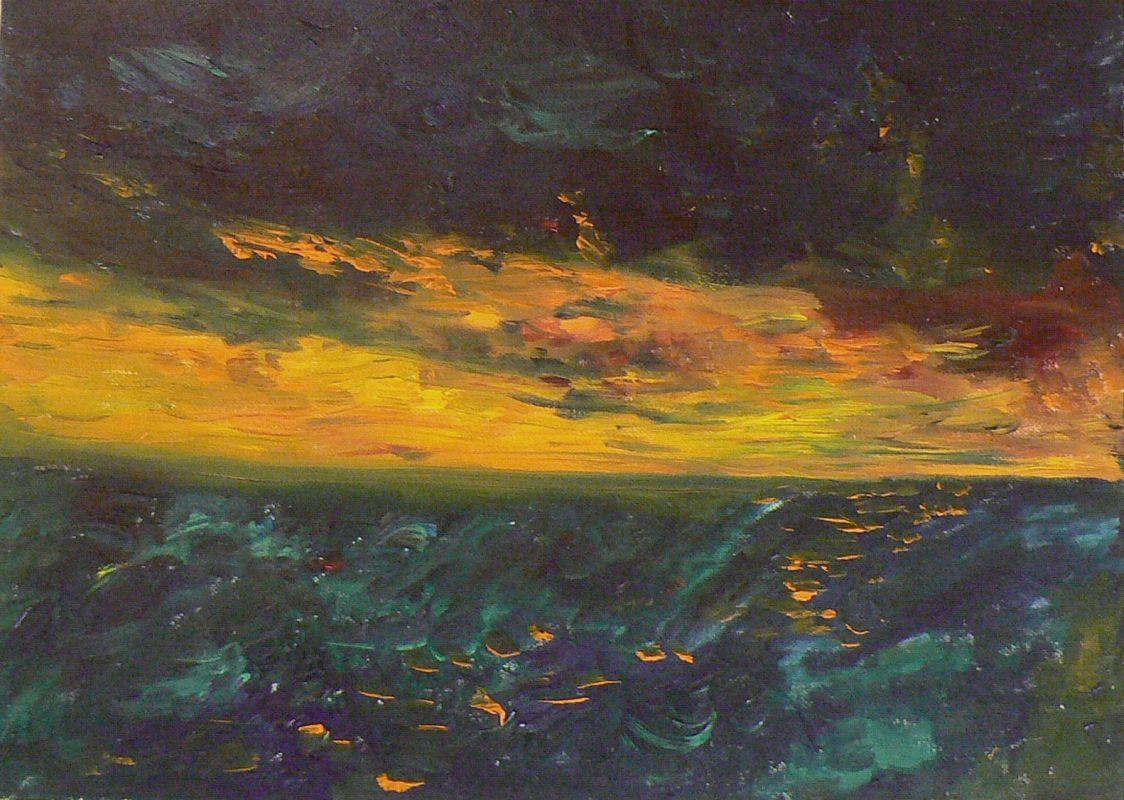 Das Meer vor dem Sturm (2006, 30 x 40 cm)
