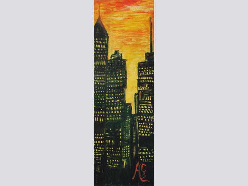Stadt (2006, 20 x 60 cm)