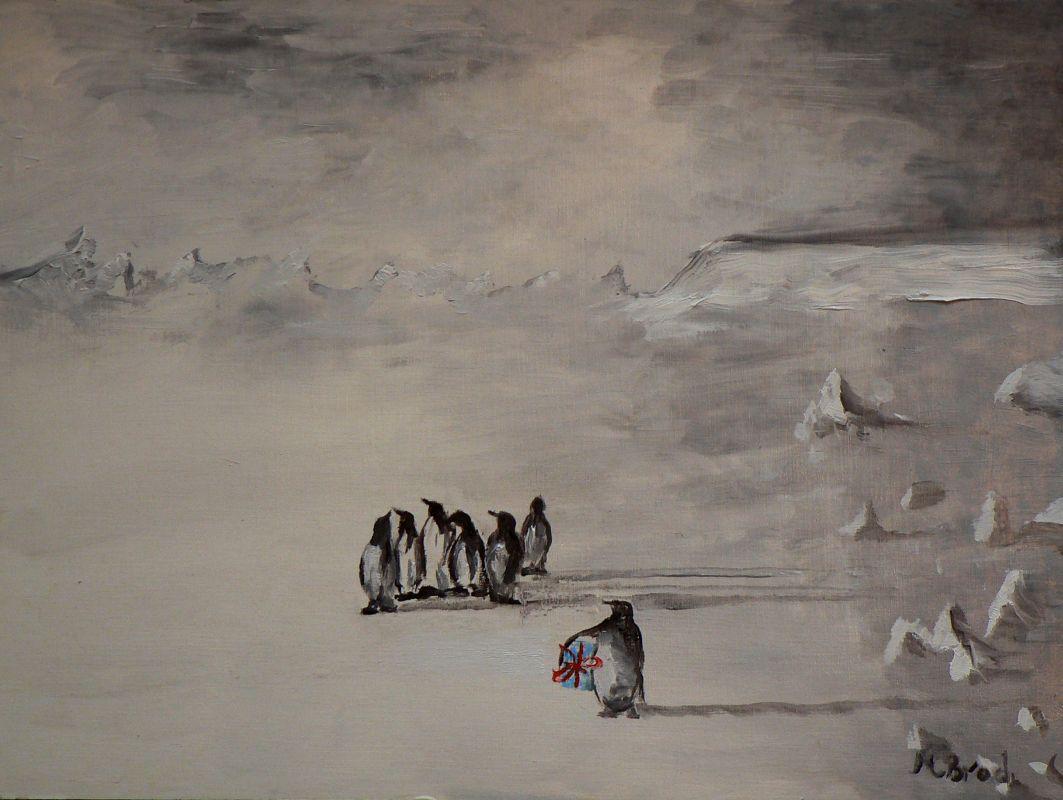 Pinguine (2007, 30 x 40 cm) verschollen