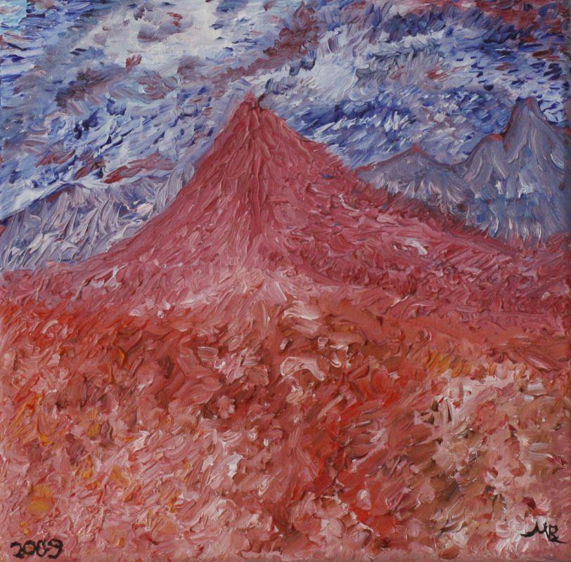 Das rot blaue Gebirge (2009, 20 x 20 cm) vergeben