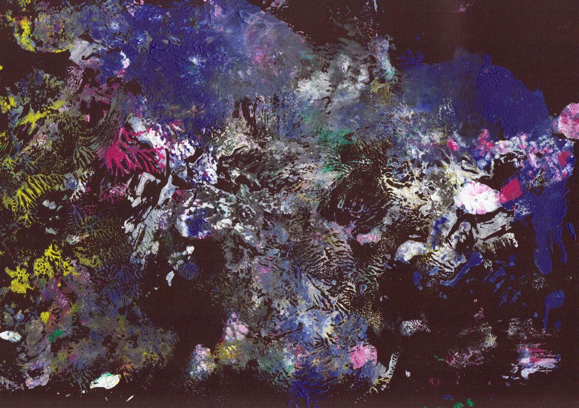 Ohne Titel (Acryl, 1, 2013, 21 x 29,7 cm, A4)