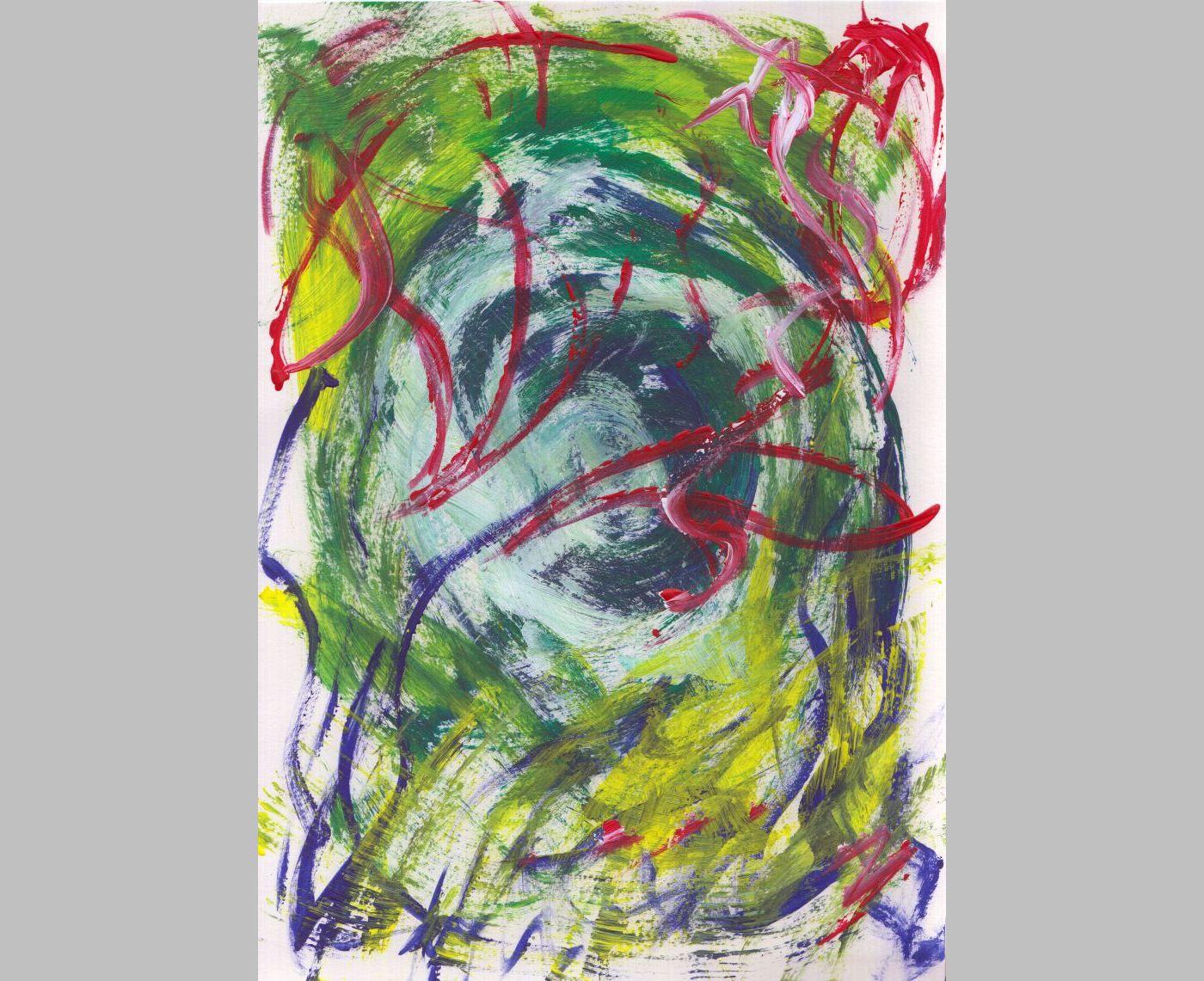 Geflügeltes Chaos (2013, 21 x 29,7 cm)