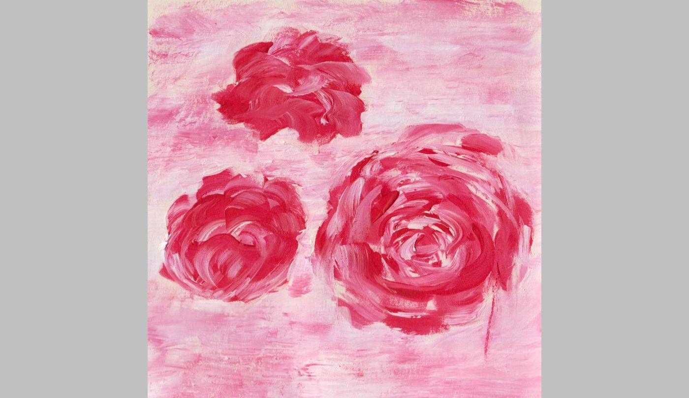 """Rosenstudie in Acryl (1, 2012, Format unbekannt """"klein"""")"""