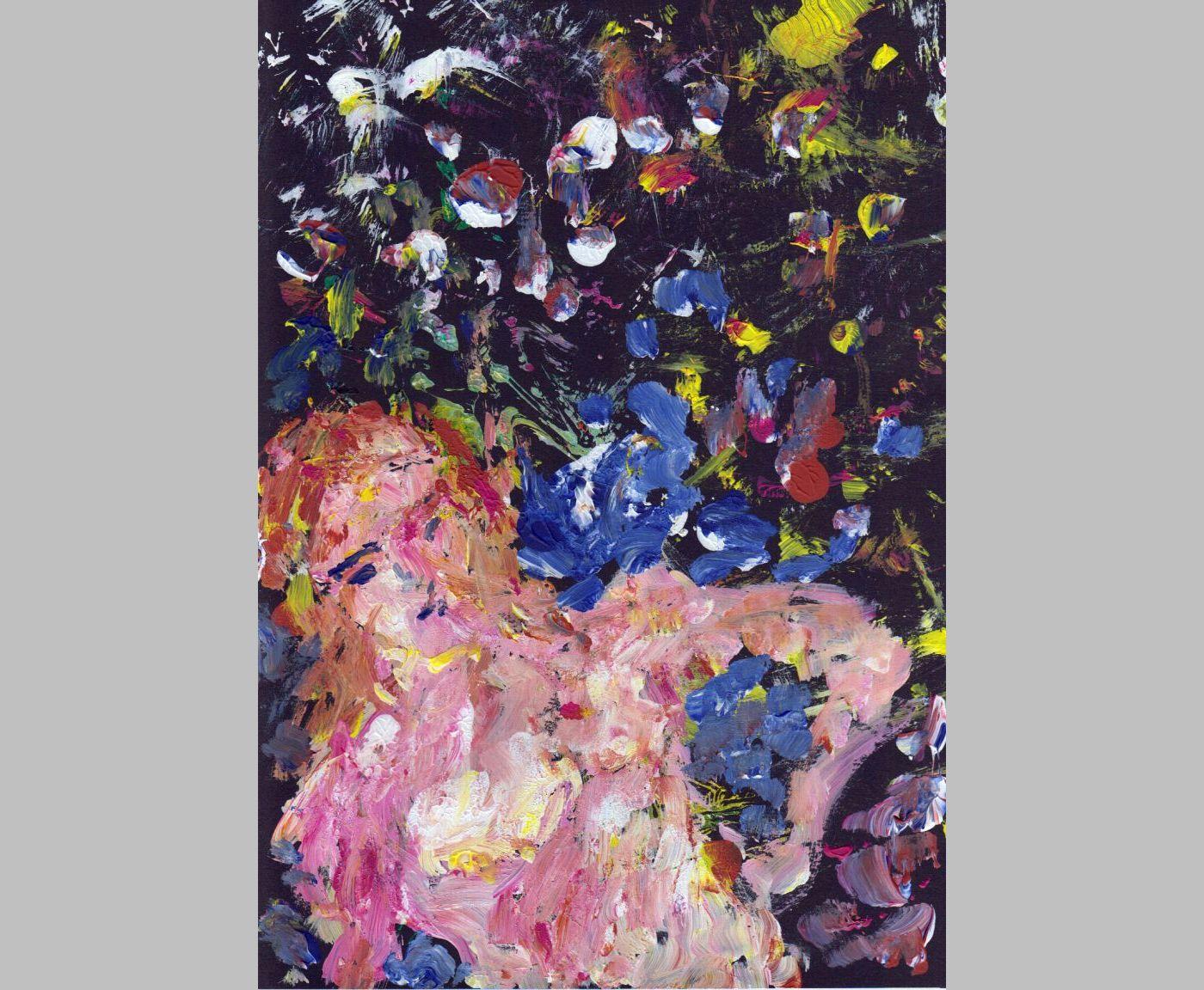 Abstrakter Akt in Acryl (1, 2013, 21 x 29,7 cm, A4)
