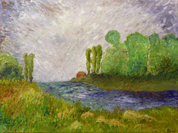 Erinnerung an letztes Idyll (2013, 30 x 40 cm)