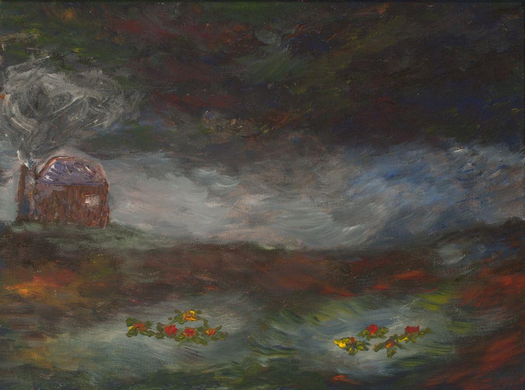 Düsternis auf dem Moor (2014, 30 x 40 cm)