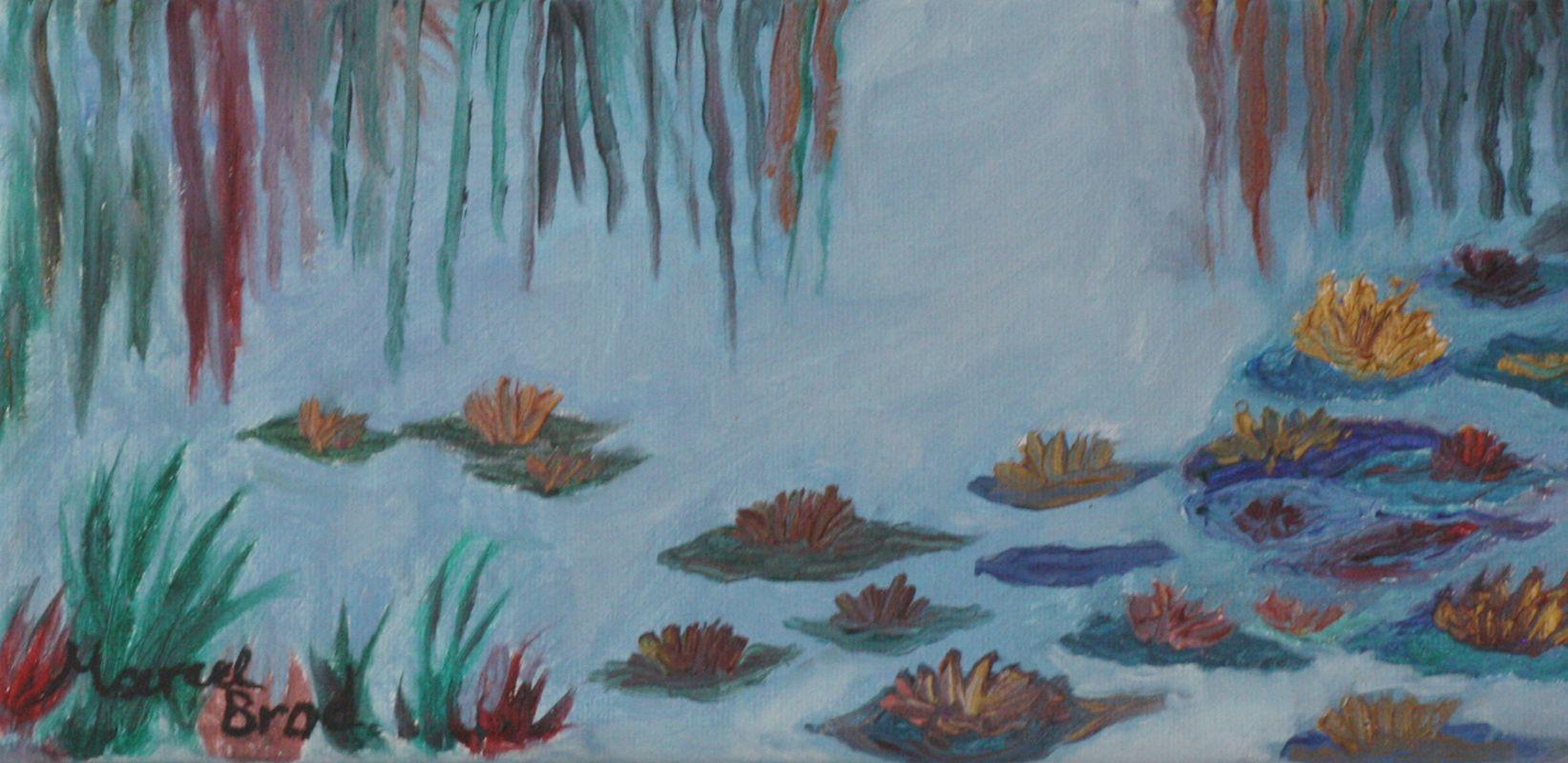 Seerosen (2, 2009, 10 x 25 cm)