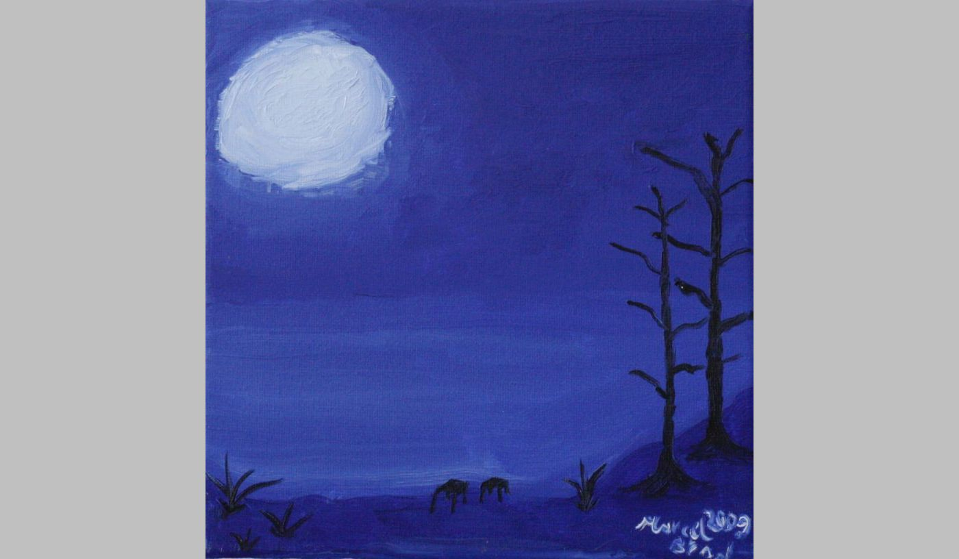 Zwei (2009, 20 x 20 cm)