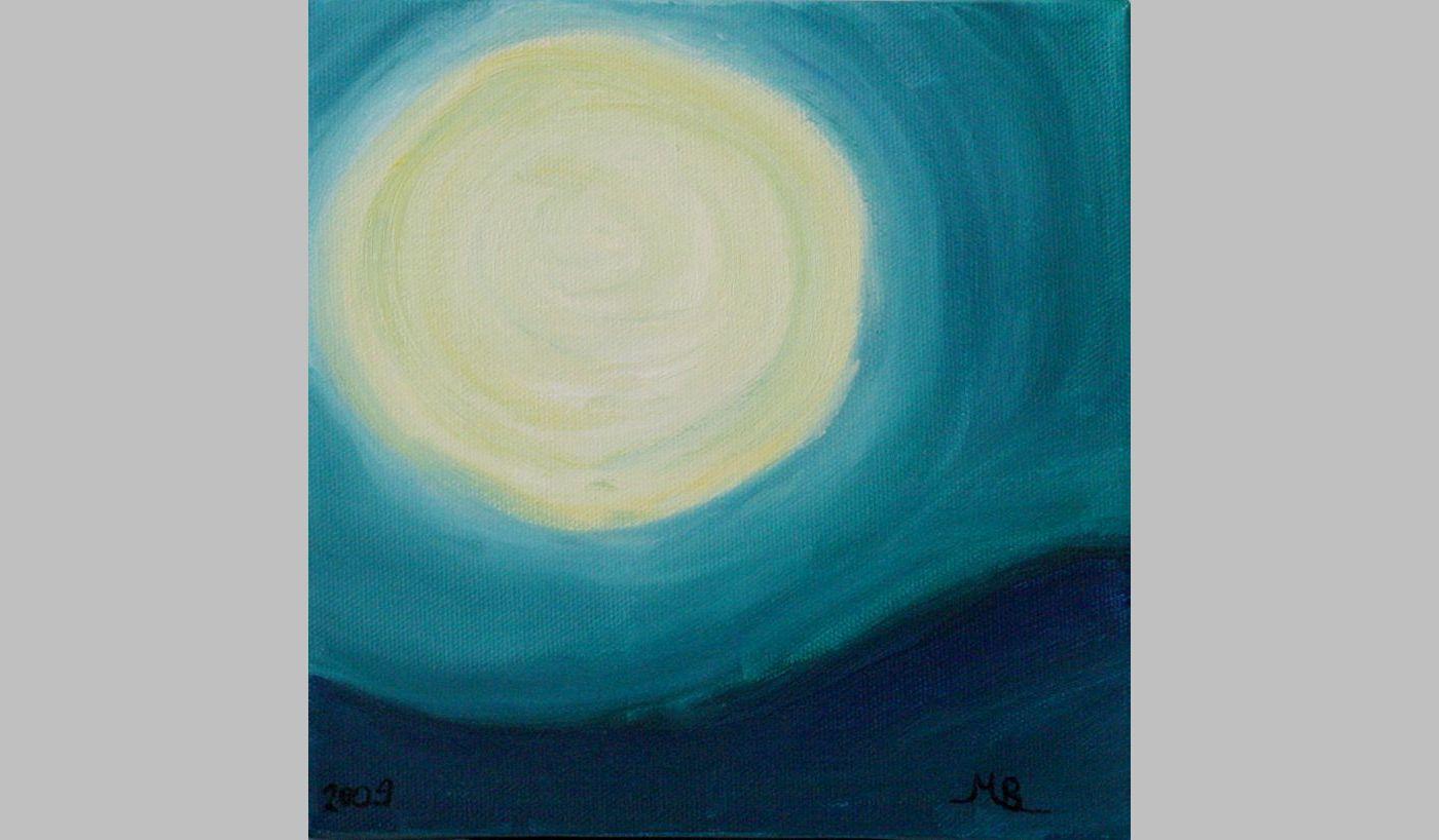 Mondbann (2009, 20 x 20 x 3,5 cm)