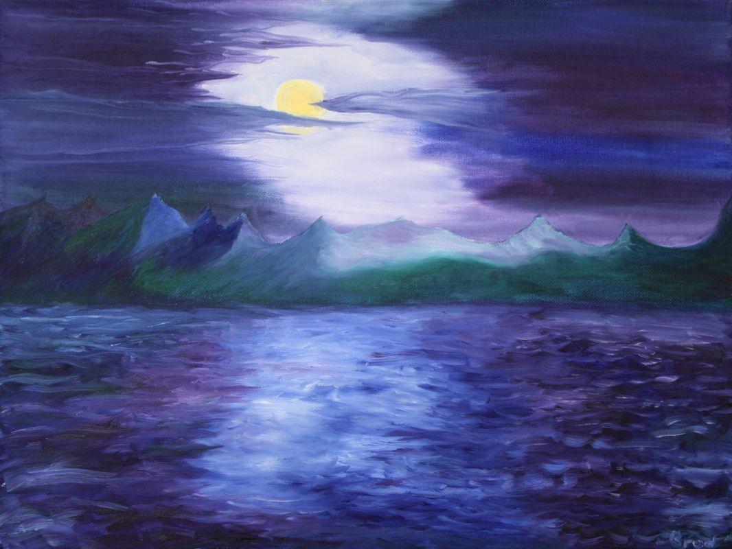 Schleier der Nacht (2009, 30 x 40 cm) vergeben
