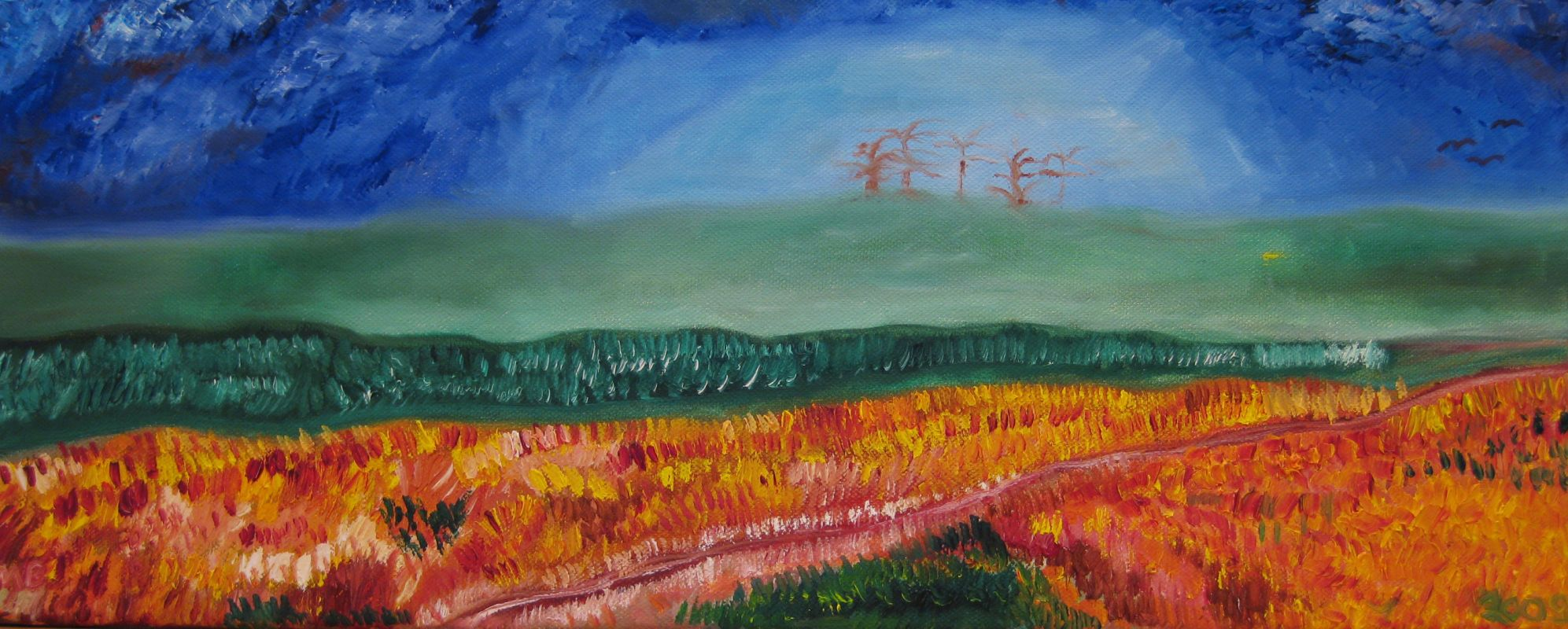 Vor der Winterruhe (2009, 20 x 60 cm) vergeben