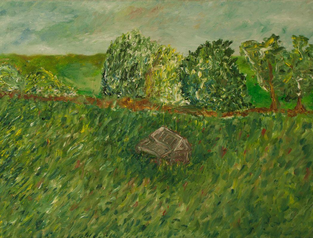 Landschaft mit Hütte (2014, 30 x 40 cm)