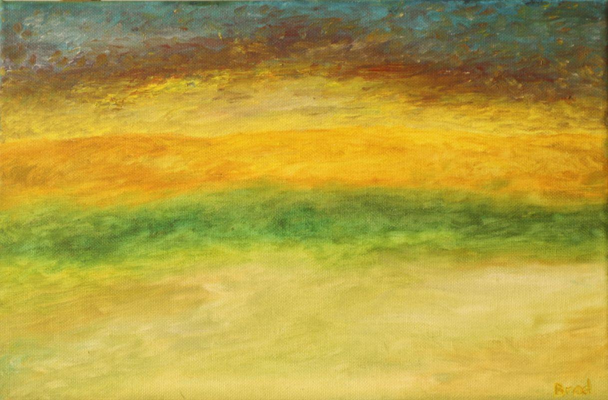 Impression eines Sonnenuntergangs (2016, 20 x 30 cm)