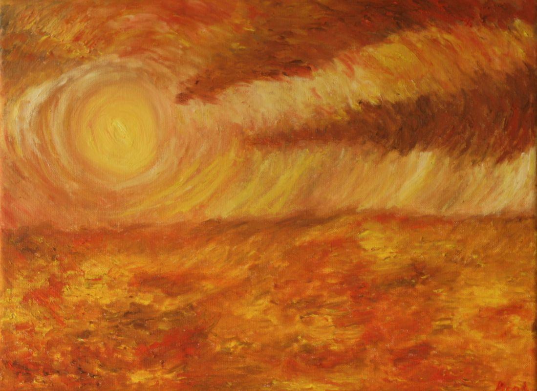 Sonnensturm (2016, 30 x 40 cm)