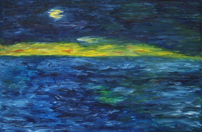 Anbruch der Nacht (2009, 20 x 30 cm)