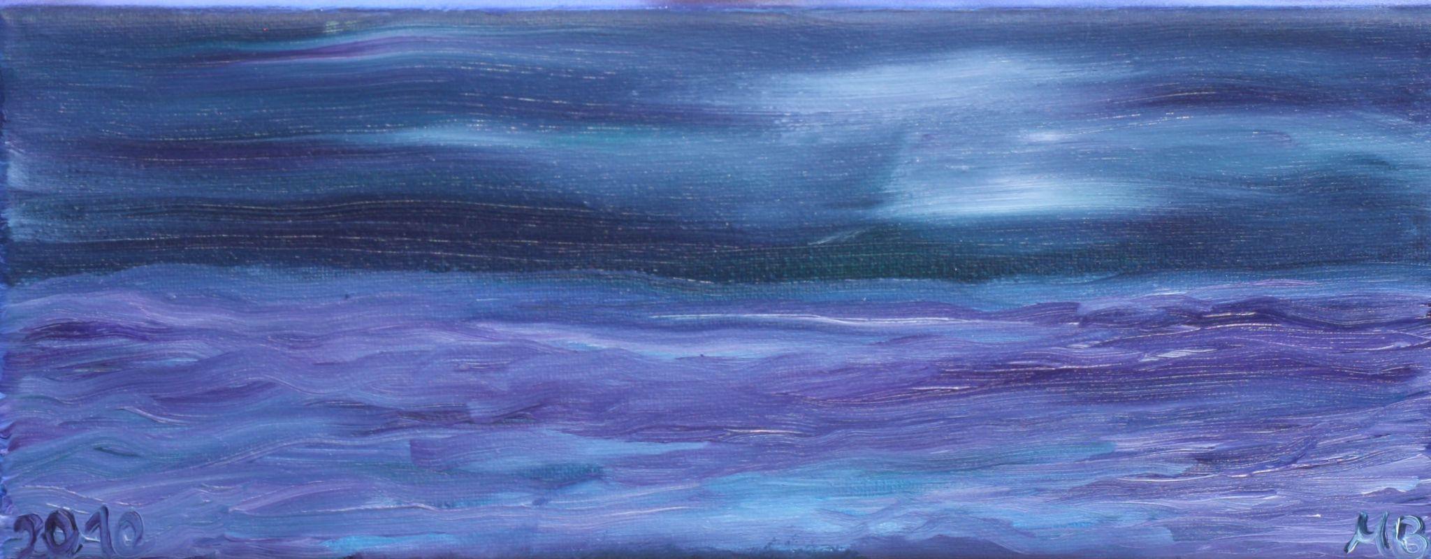 Mondnacht auf See (2009, 10 x 25 cm)