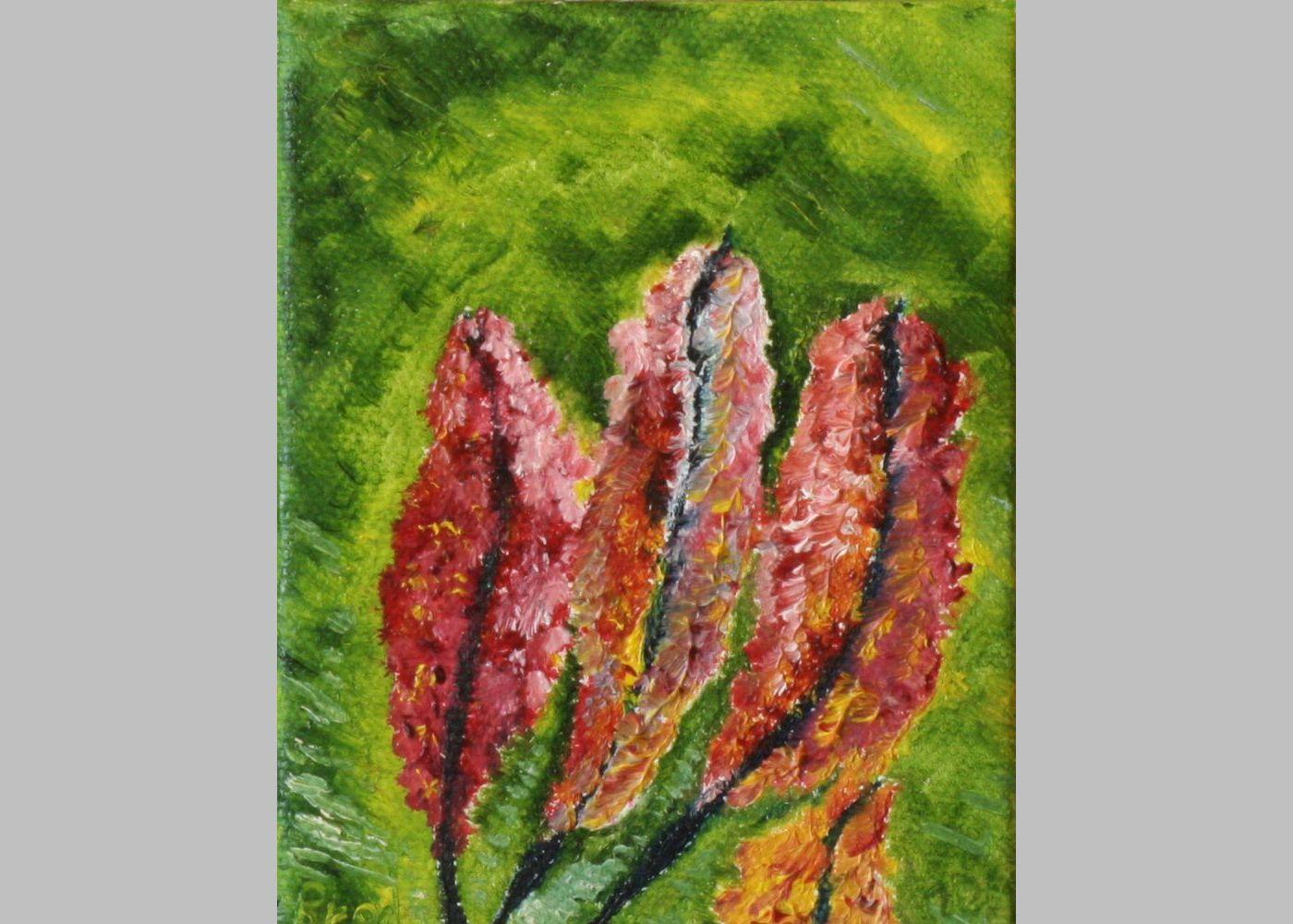 Kleines Blumenarrangement (1, 2009, 7,5 x 10 cm)