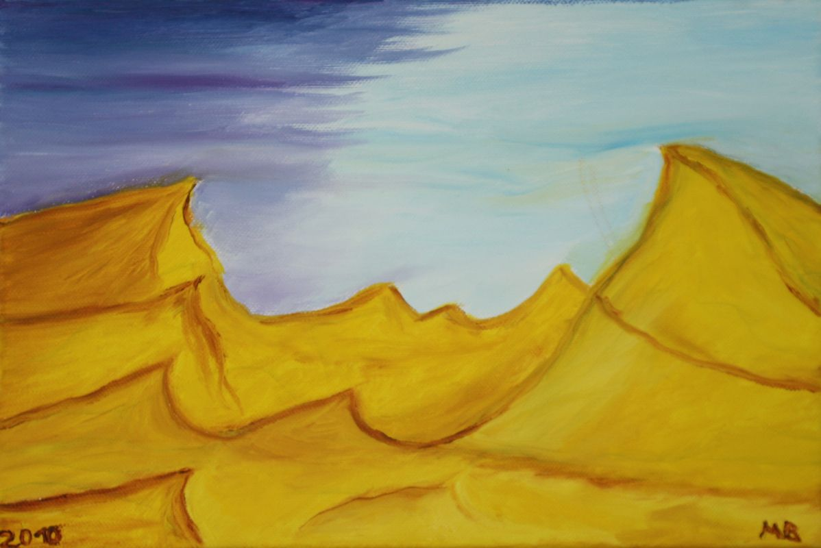 Wüstenlandschaft (2009, 20 x 30 cm)