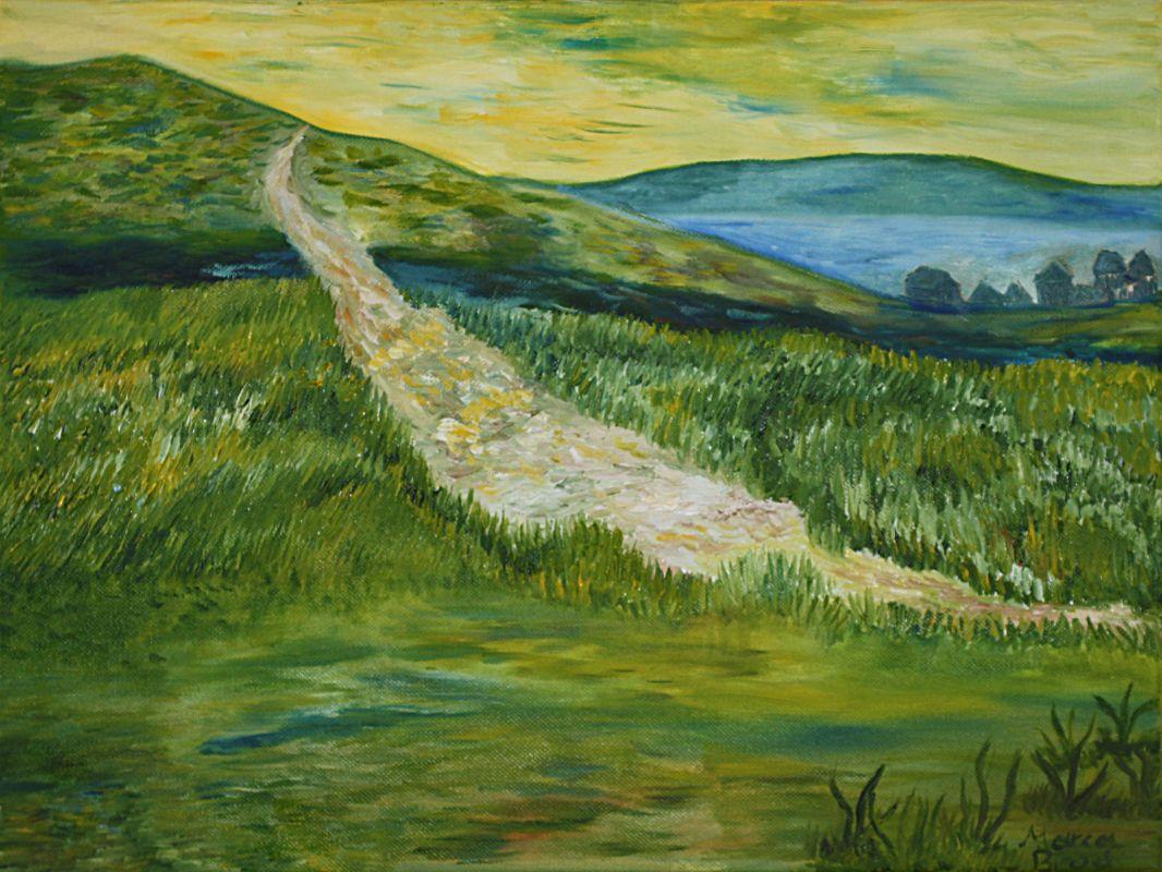 Weg im Grünen (2010, 30 x 40 cm) vergeben