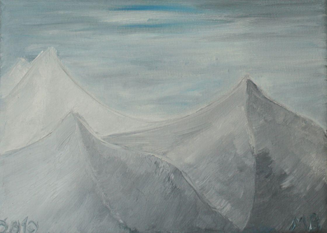 Herausfordernde Kälte (2010, 13 x 18 cm)
