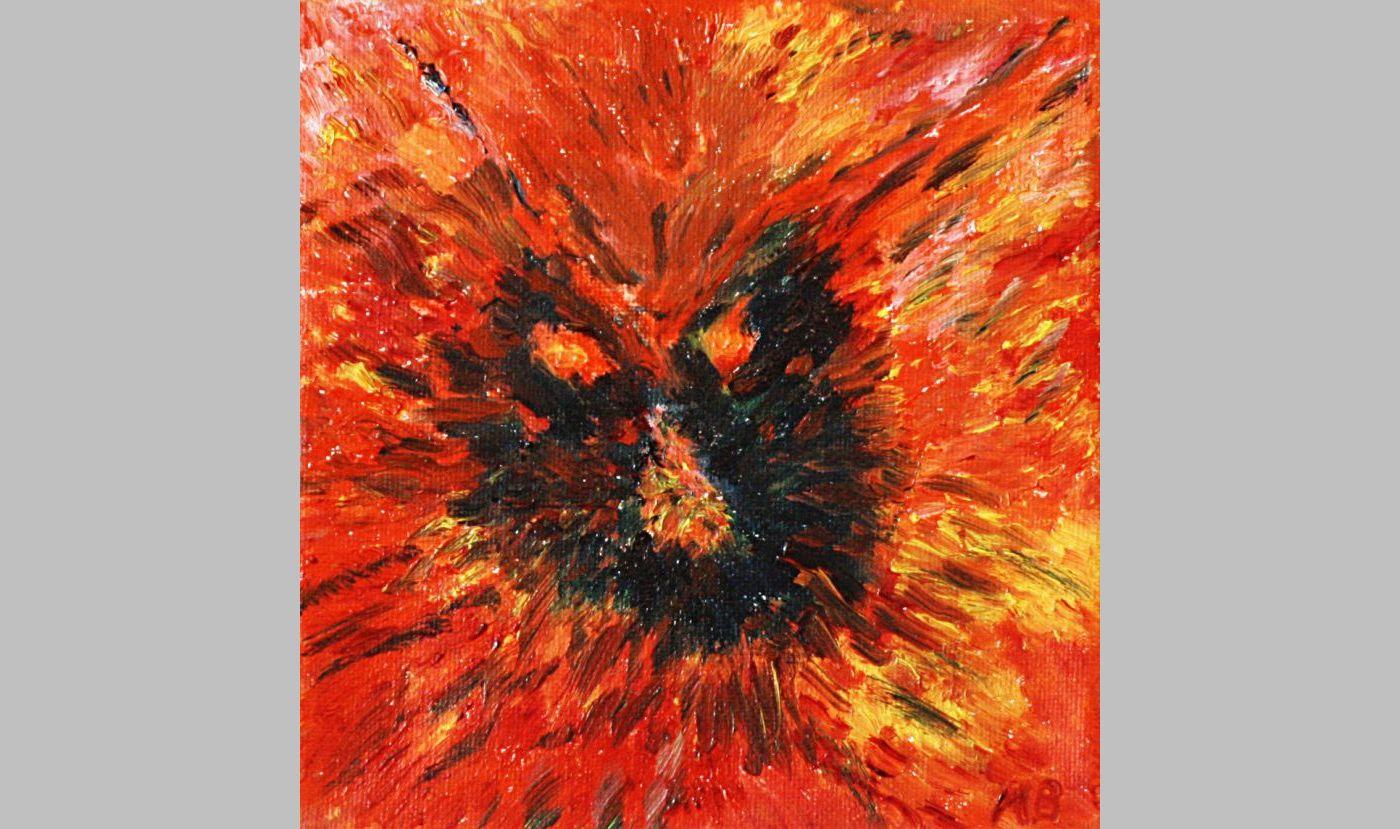 Zorn des Feuers (2011, 15 x 15 cm)