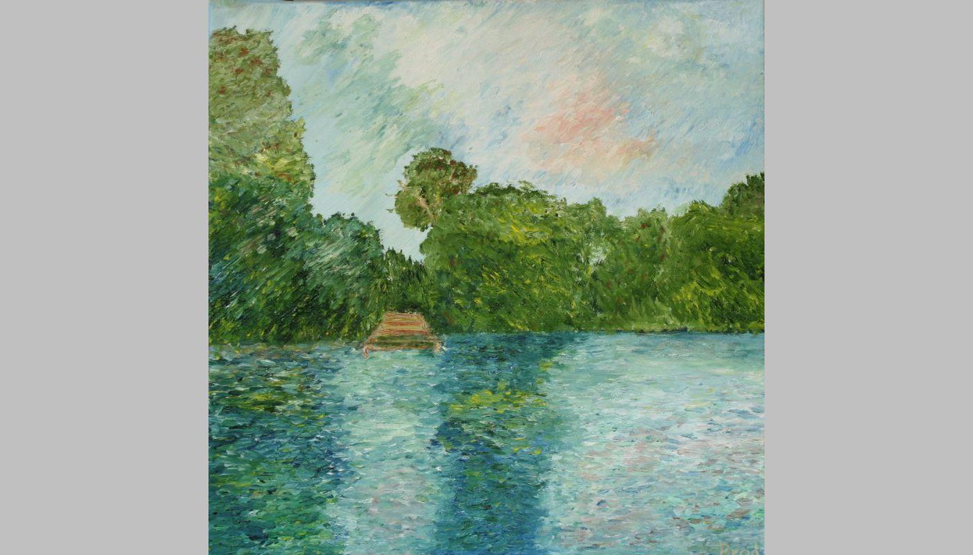 Sonntags am See (2011, 30 x 30 cm) vergeben