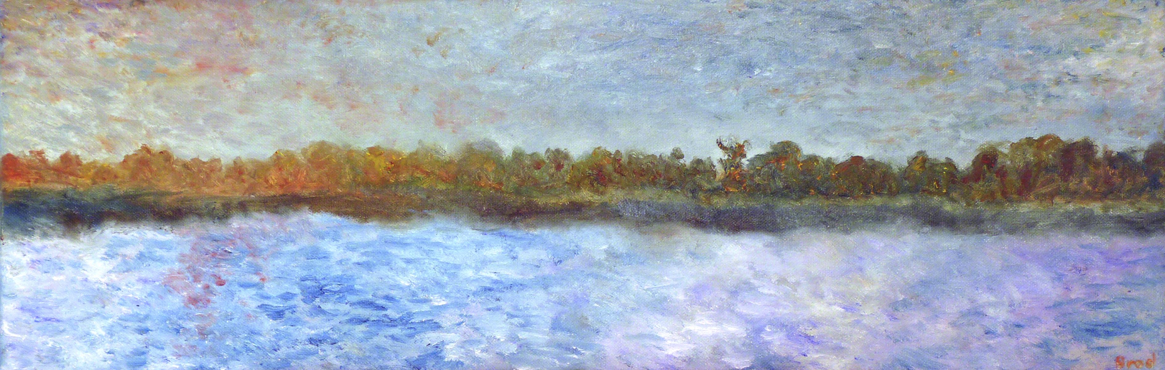 Rheinufer (2017, 20 x 60 cm)