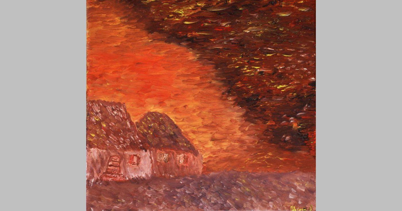 Holzhütten (2011, 20 x 20 cm) vergeben
