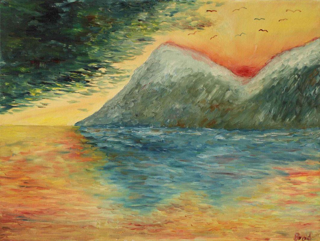 Tage des Regens, Tage der Sonne (2012, 30 x 40 cm) vergeben