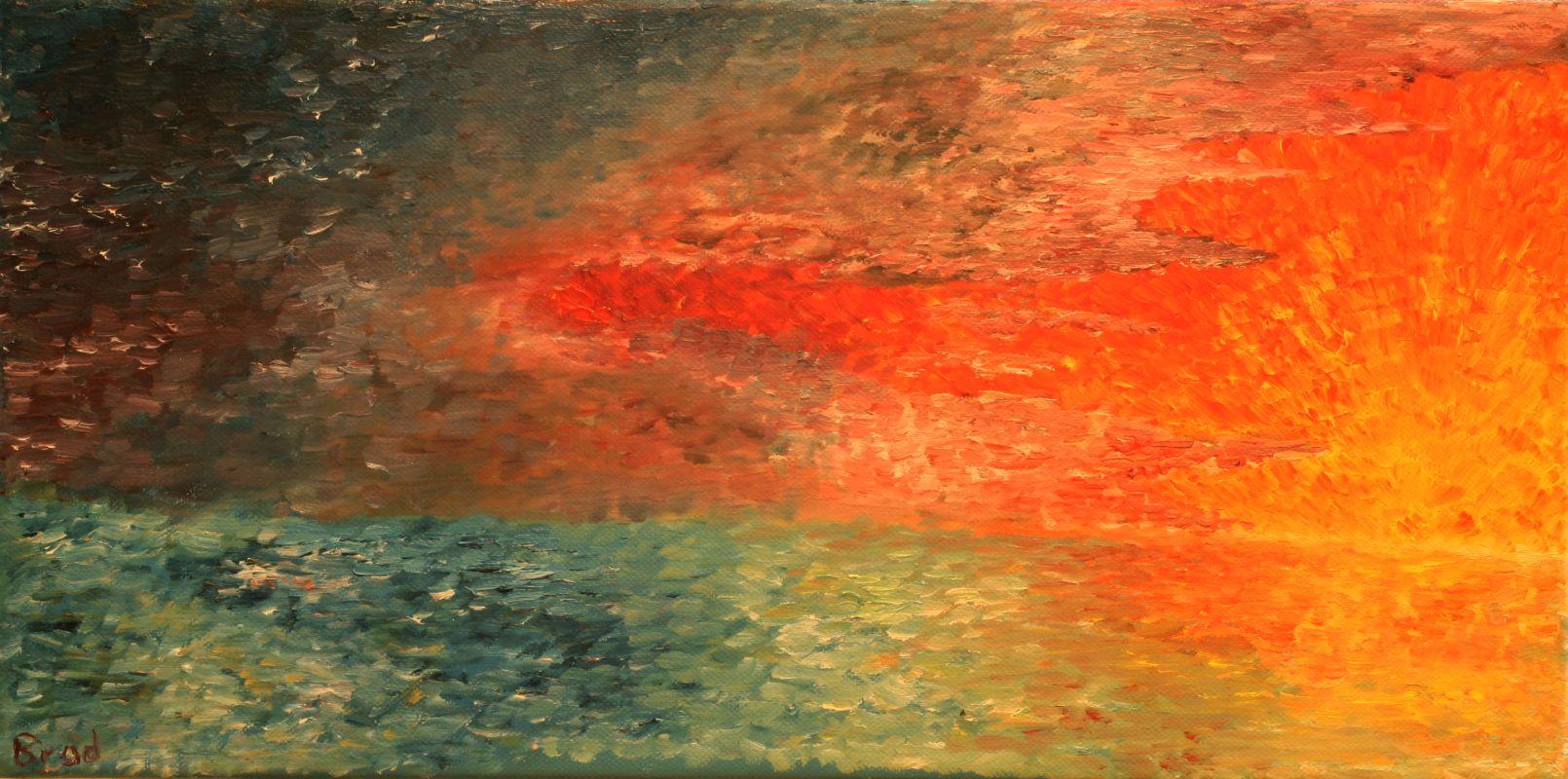 Abenddämmerung (2012, 20 x 40 cm)