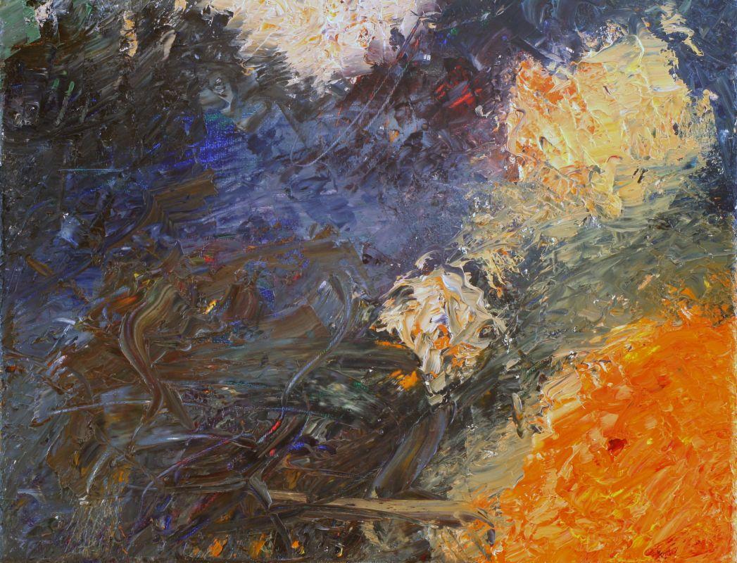 Flammenbälle (2012, ca. 20 x 25 cm)