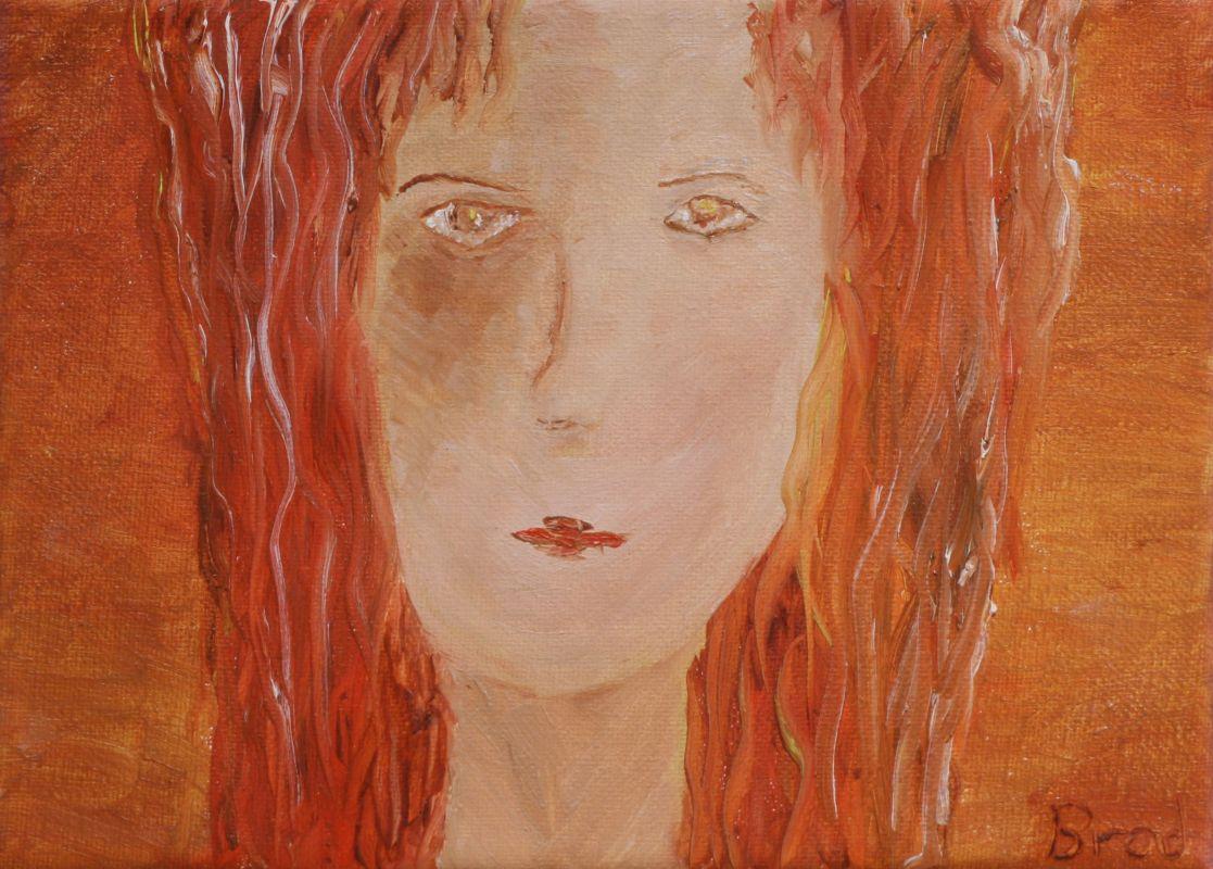 Das Mädchen mit dem roten Haar (2012, 13 x 18 cm)