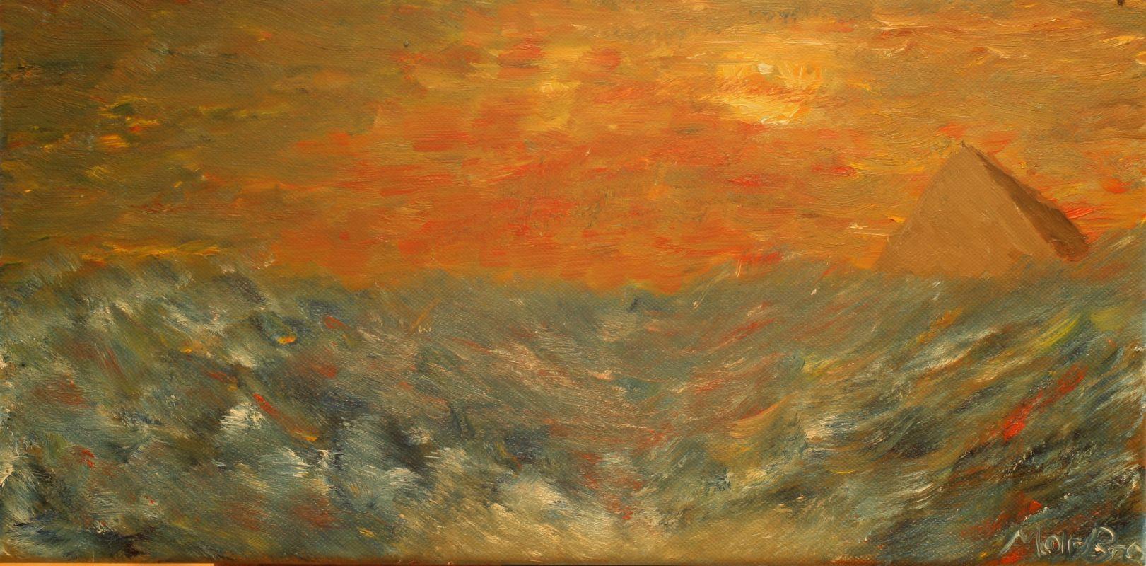 Die Nacht vor dem Untergang (2012, 20 x 40 cm)