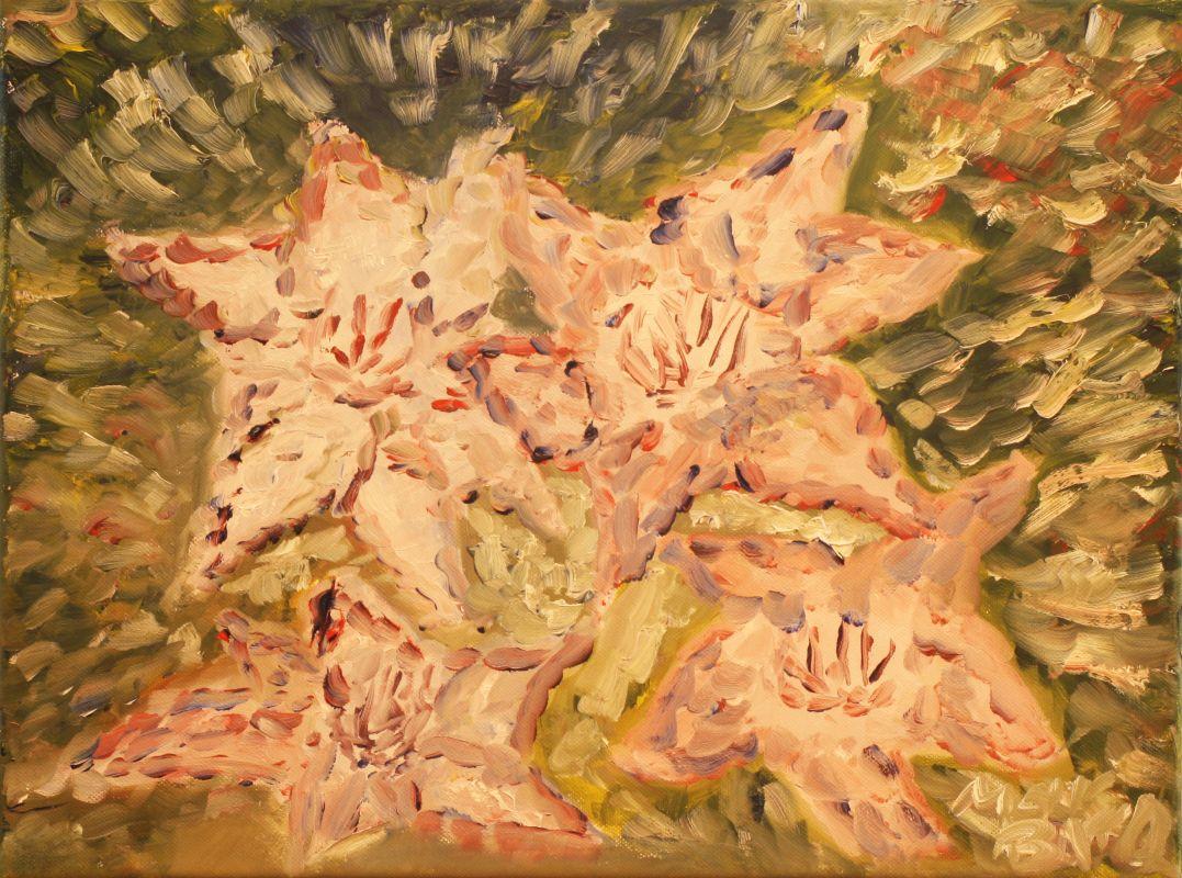 Abstrakte Blüten (2012, 30 x 40 cm)