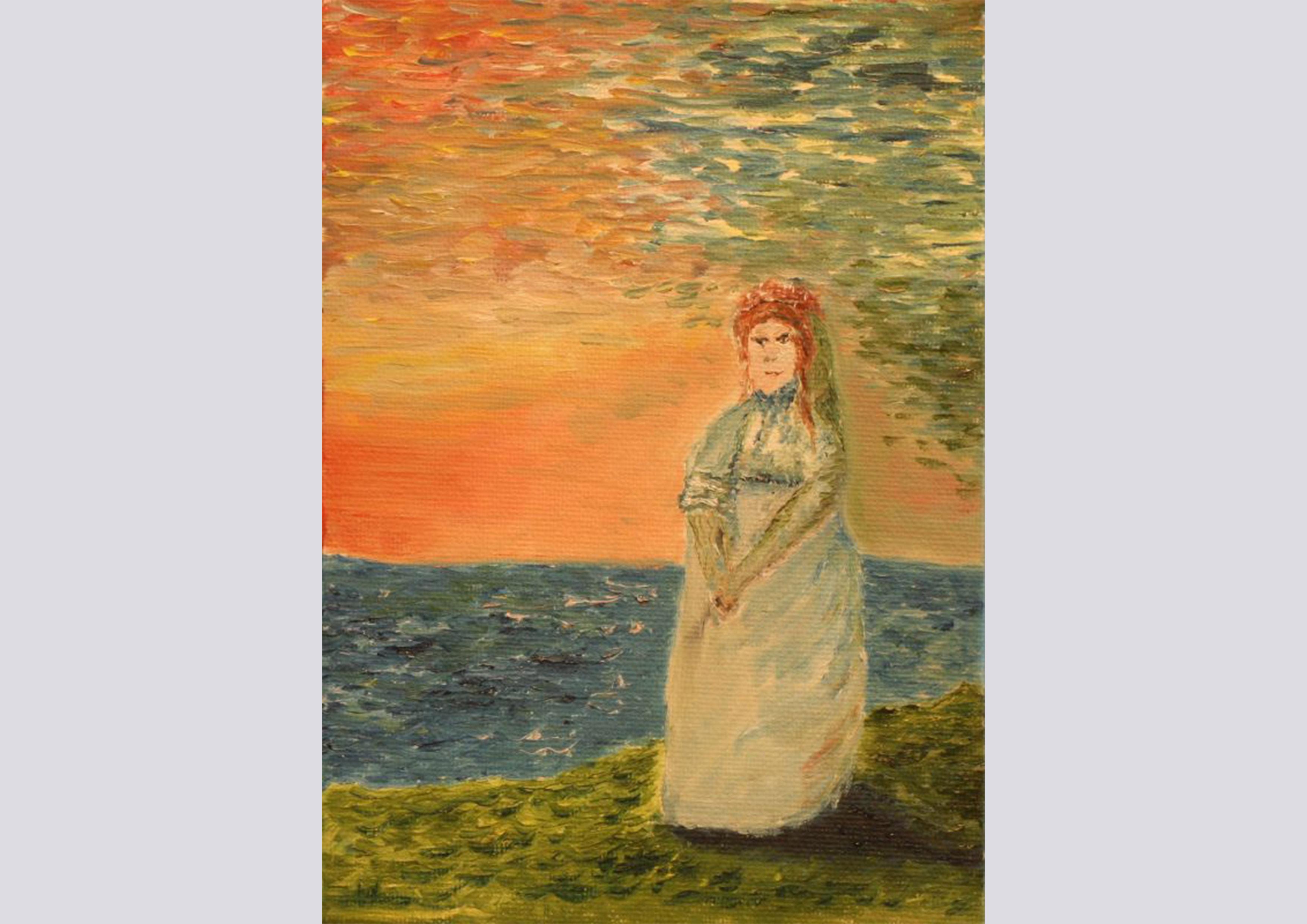 Die einsame Braut (2012, 10 x 15 cm)