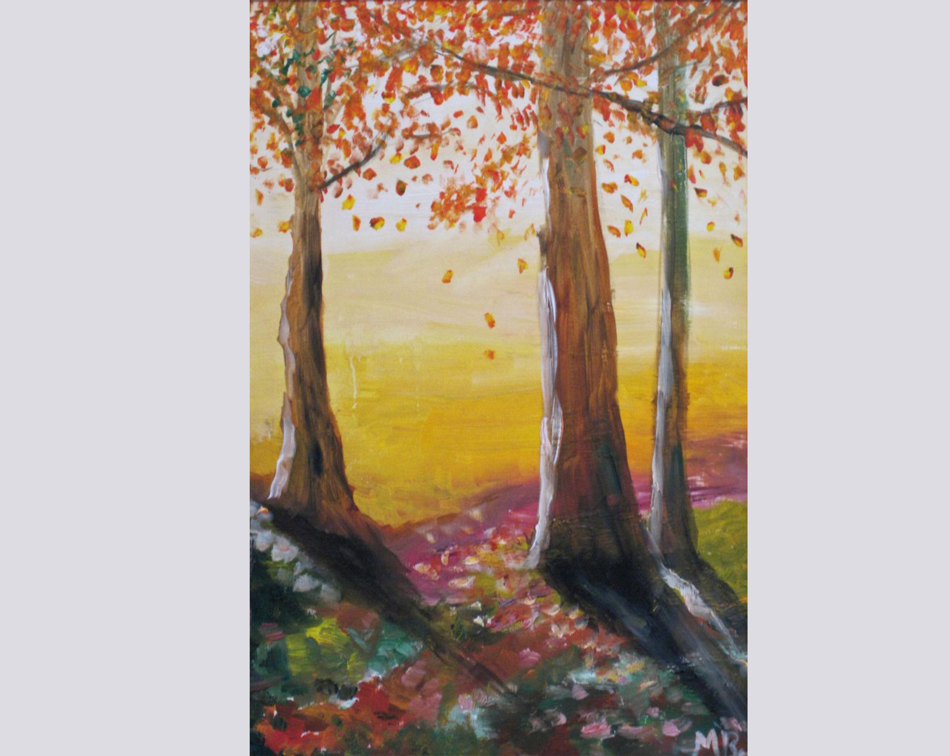 Herbstwald (2007, 30 x 40 cm) vergeben