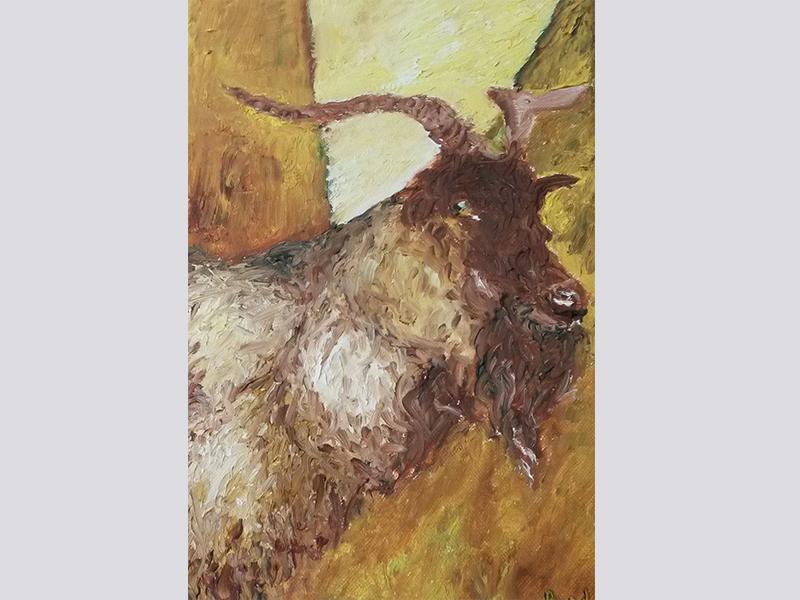 Der Ziegenbock (2016, 20 x 30 cm)