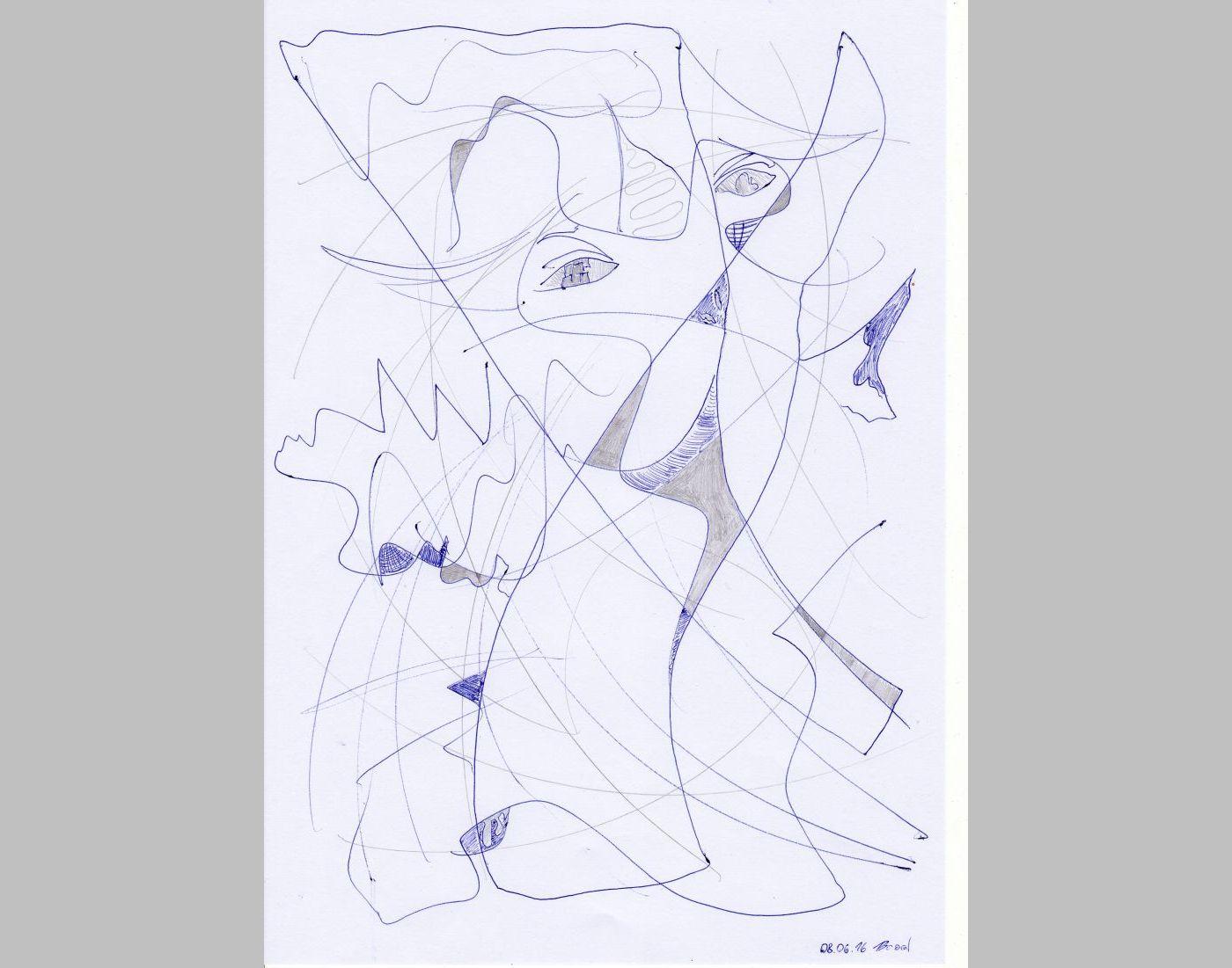 Zeichnung (08.06.16, 21 x 29,7 cm, A4)