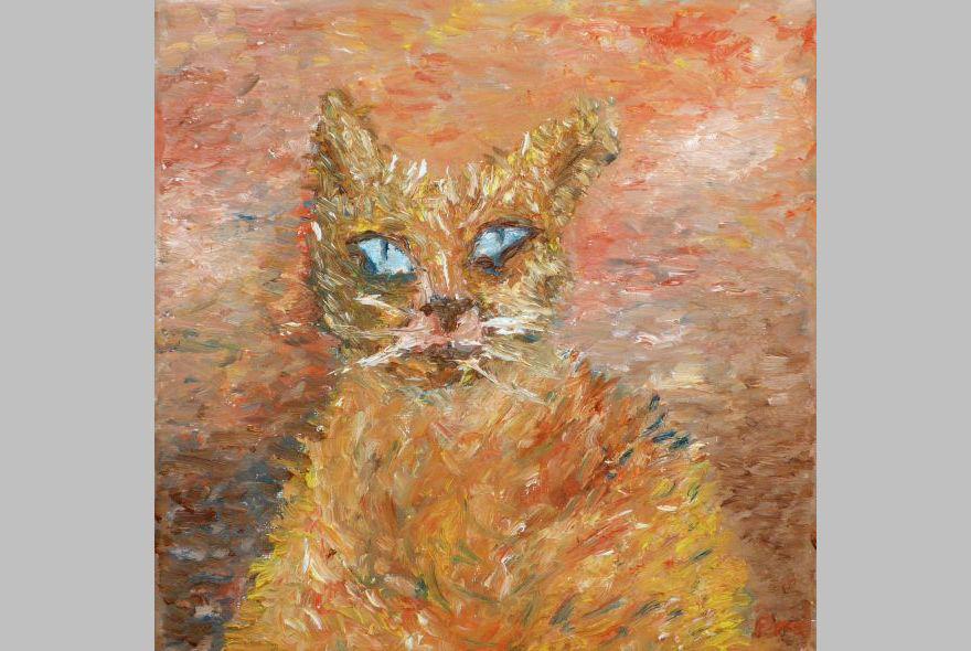 Katze (2016, 20 x 20 cm)